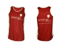 custom made sublimation printed running vest