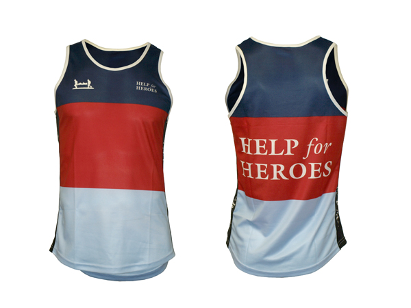 printed charity running vests